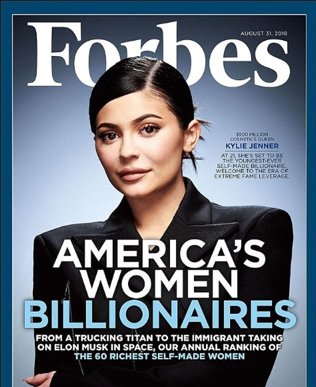 Kylie Jenner, 22, is Forbes' youngest 'self-made' billionaire for the SECOND year in a row