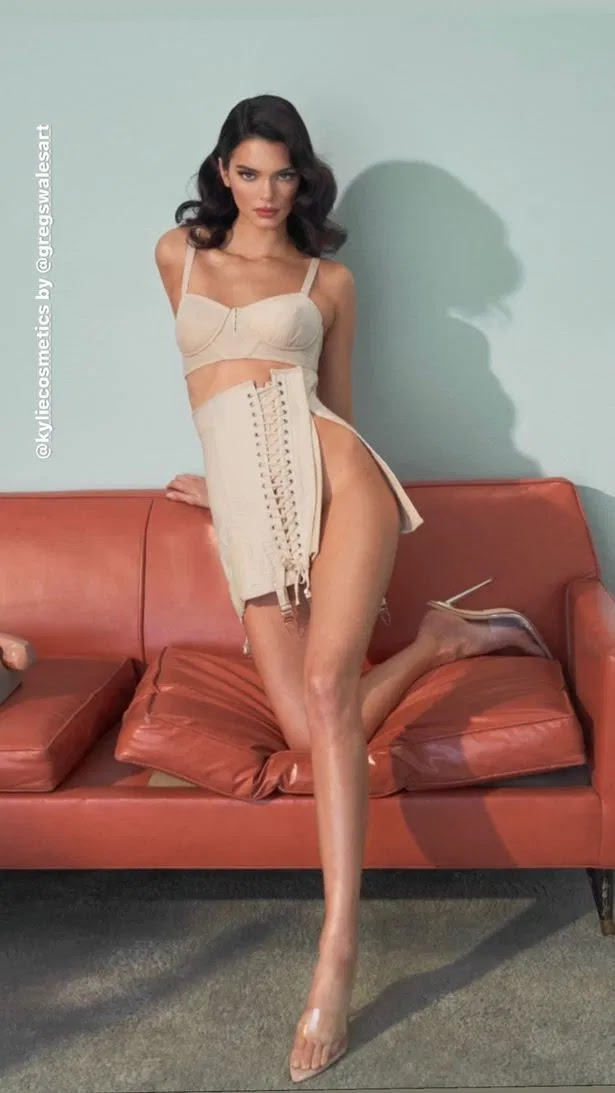 Kendall Jenner's pin-up transformation as she ditches underwear in 50s-inspired shoot