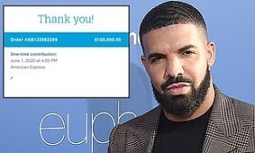 Drake donates $100K to programme aimed at bailing out protesters arrested by police