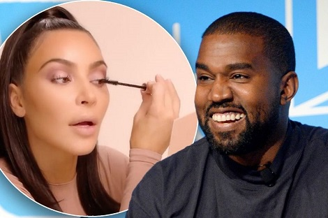 Kanye West 'to rival his wife Kim Kardashian with his own beauty range'