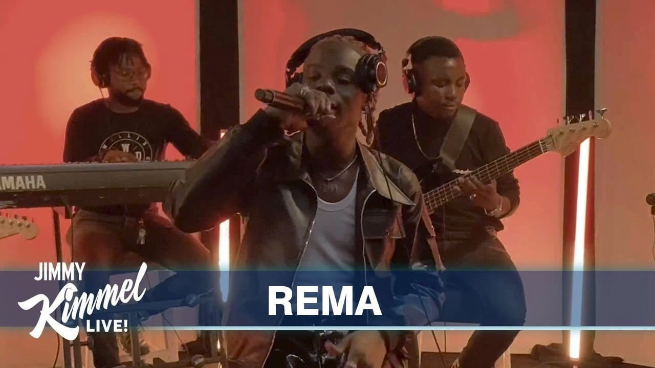 "Rema Performs ""Iron Man"" on Jimmy Kimmel Live 