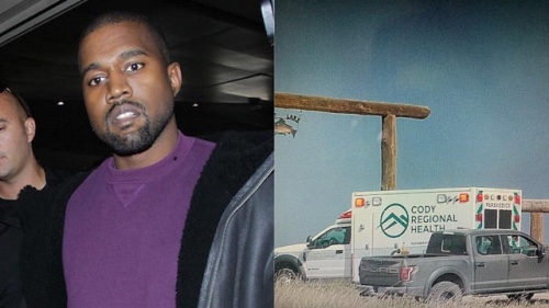 Kanye West visits hospital hours after apologising to Kim Kardashian West