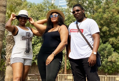 Omotola Ekeinde and kids cured of covid-19