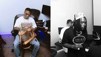 Fans excited as Wizkid links up with Burna Boy in studio
