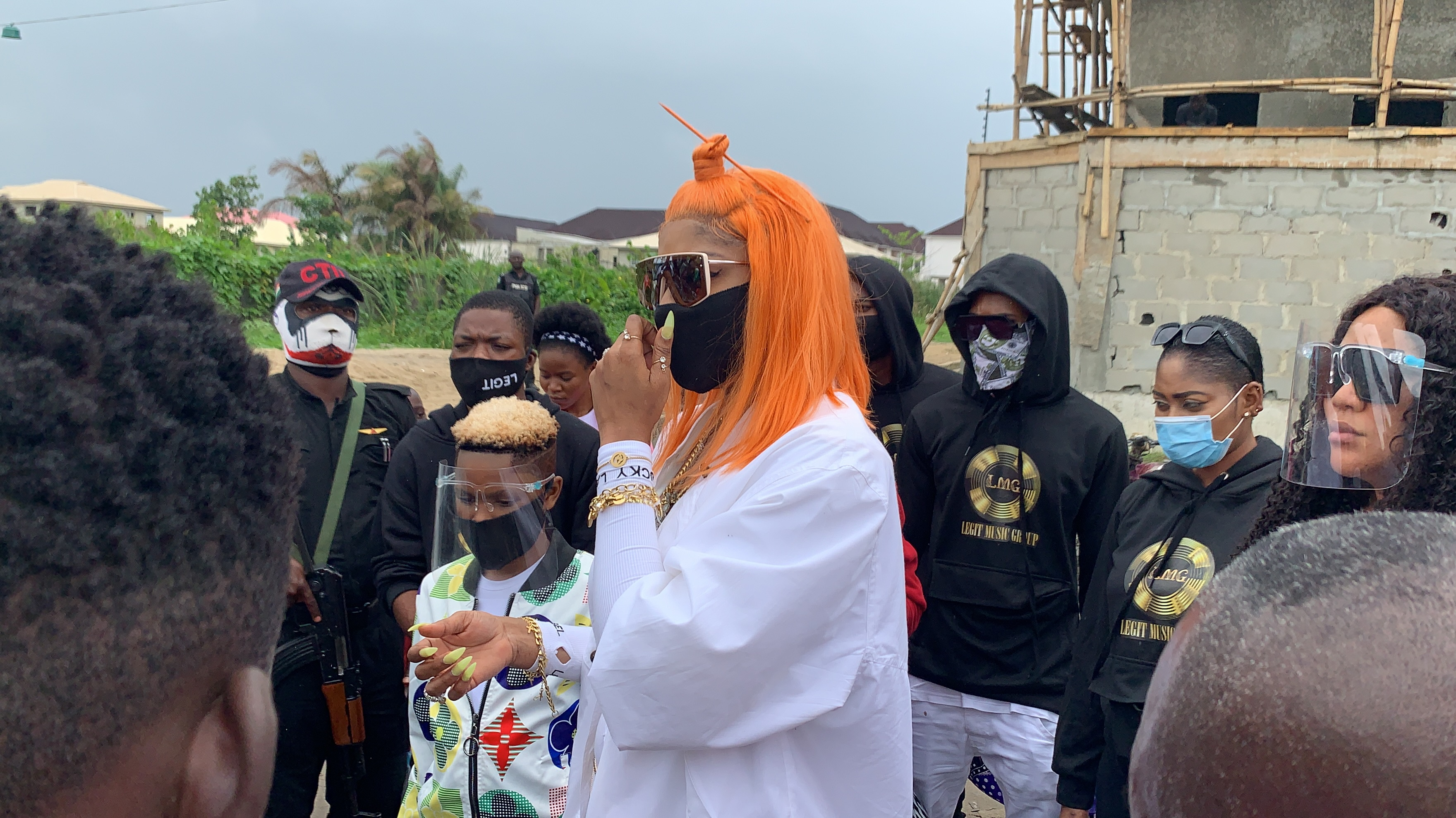 "Angela Okorie celebrates son ""Chamberlain"" birthday by reaching out to the slum."