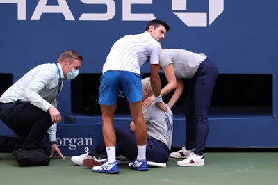 Djokovic out of US Open after hitting Judge in the neck