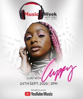 Youtube to host DJ Cuppy September 24th