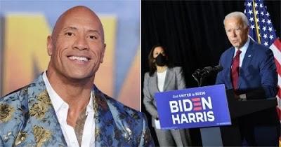 Dwayne Johnson endorses Joe Biden and Kamala Harris in rare political statement