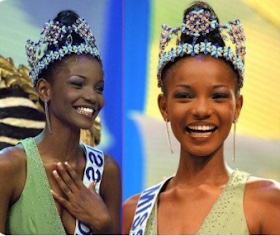 "Agbani Darego tagged ""ugliest miss world"" on Google ; Nigerians reject!"