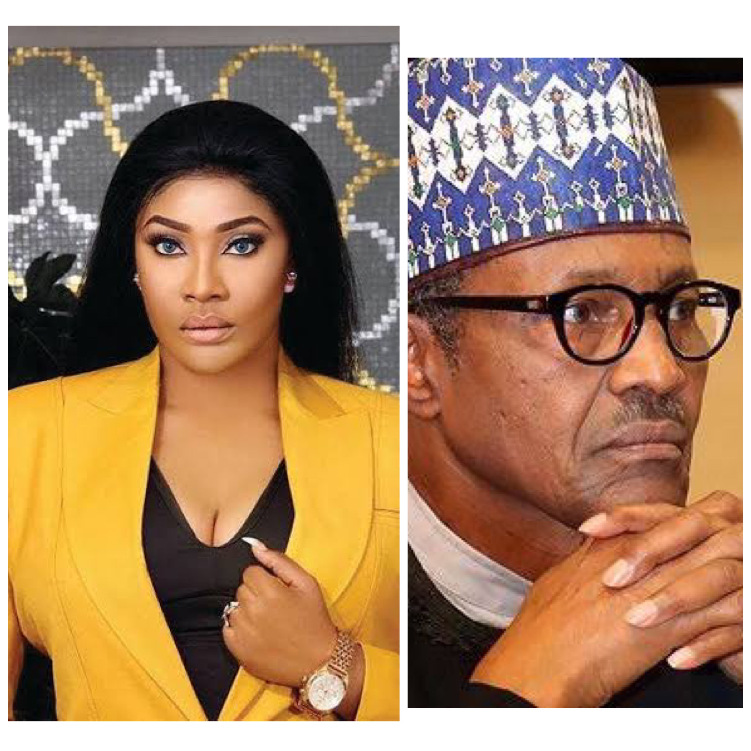 """Don't make us believe our president is a ghost . ""- Angela Okorie speaks up on #Endsars , pens an open letter to Buhari"