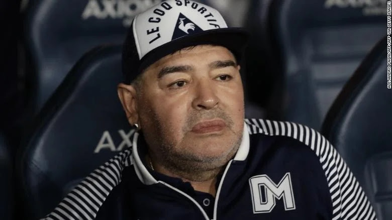 Soccer legend Maradona diagnosed with blood clot on his brain