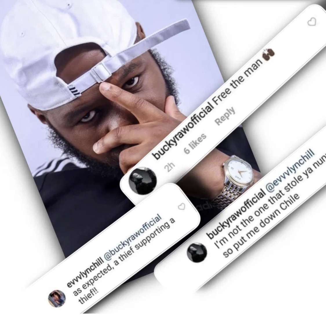 """I'm not the one that stole ya nunu…"" Bucky Raw claps back at a fan!"