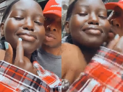 It's official! Runtown confirms relationship with South Sudanese model, Adut Akech Bior