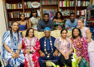 Agbani Darego appears in a family photo with her in-laws — The Danjumas