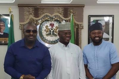 Jim Iyke's followers react as he visits Governor Yahaya Bello