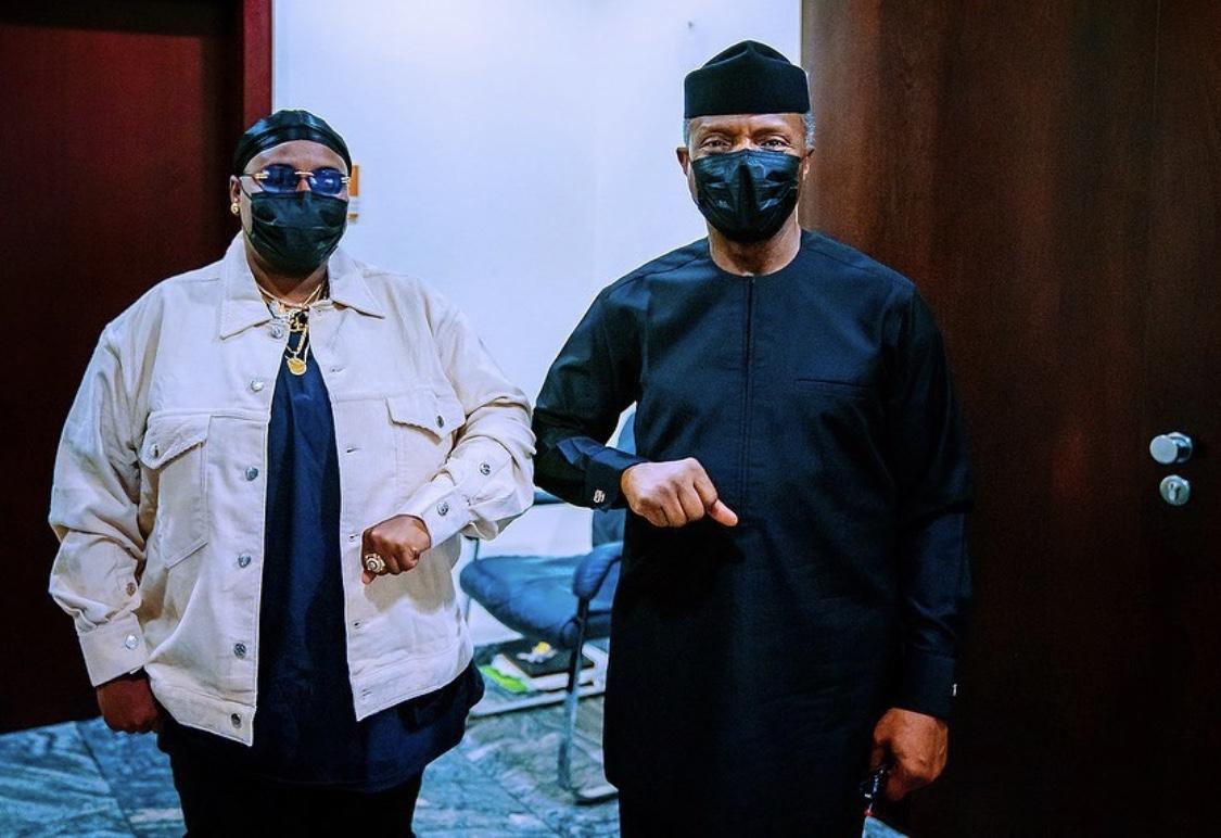 Singer Teni paid Vice President Yemi Osinbajo a courtesy visit in Aso Rock.