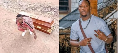 Shock as Kenyan musician buys himself a coffin