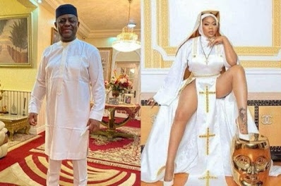 "'This is ghetto rubbish and anti-christ"" – FFK slams Toyin Lawani over racy nun outfit"