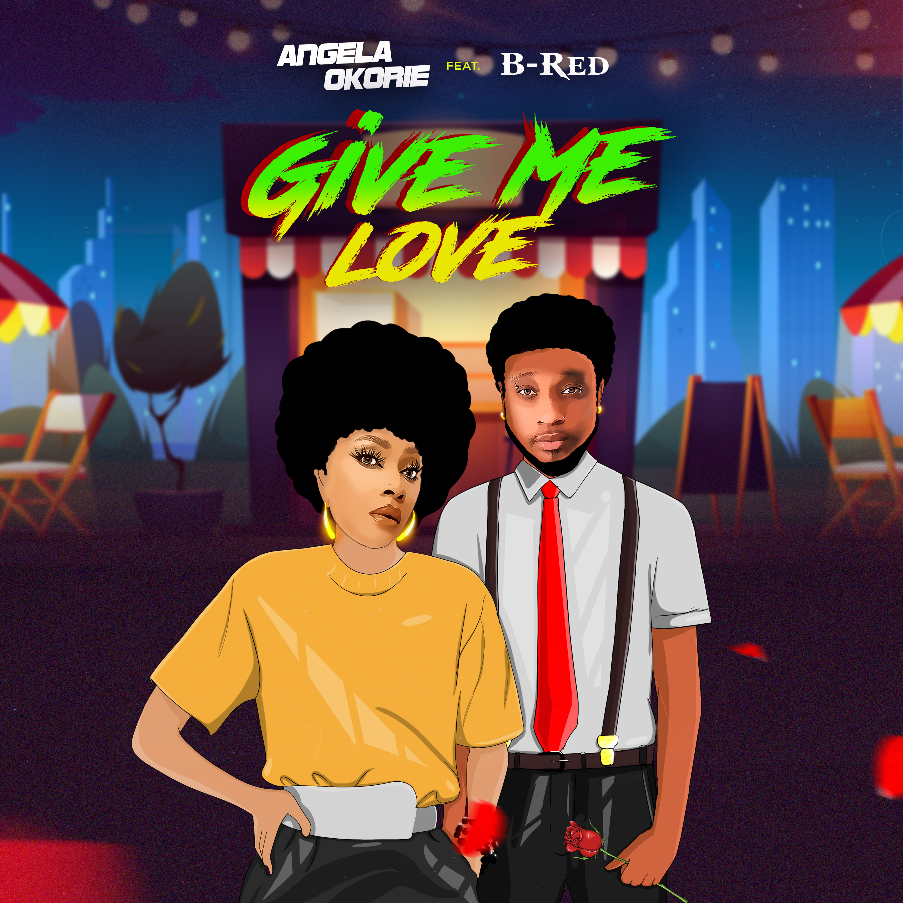 """ANGELA OKORIE DUETS WITH B-RED ON NEW SINGLE TITLED """"GIVE ME LOVE"""""""