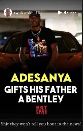 UFC star Isreal Adesanya gifts father a Bentley [video]