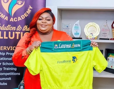 Nollywood actress , Eniola Badmus becomes LAWMA Ambassador