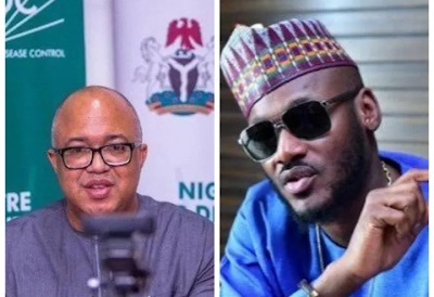 NCDC apologises to 2Baba, others over covid-19 test