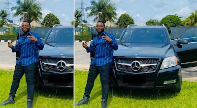 Nigerian Comedian Mr funny acquires a benz SUV