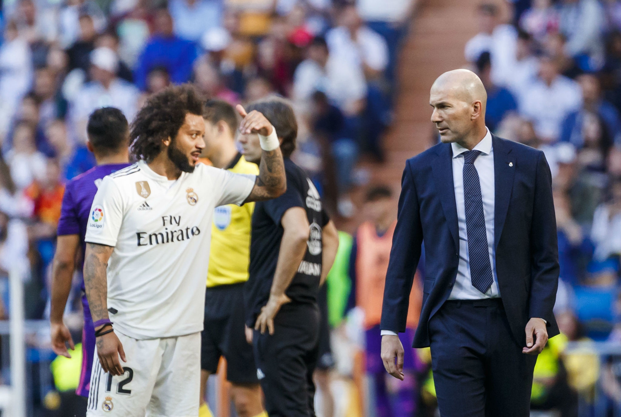 Marcelo is axed from the Real Madrid squad 'after a bust-up with boss Zinedine Zidane