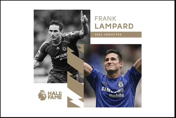 Former Chelsea midfielder, Frank Lampard inducted into Premier League Hall of Fame