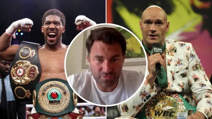 """You've not only cost me fifty or sixty million dollars, you've cost me the biggest fight of all time"""" – Anthony Joshua's promoter, Eddie Hearn blasts Tyson Fury over failed fight"""