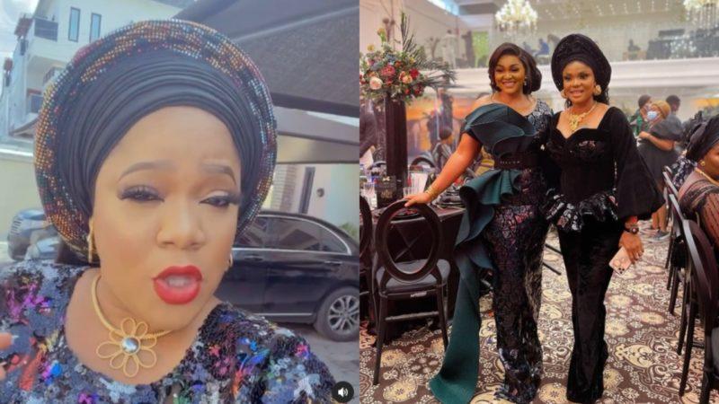 Toyin Abraham reconcile Mercy Aigbe and Iyabo Ojo at Toyin Lawani's wedding
