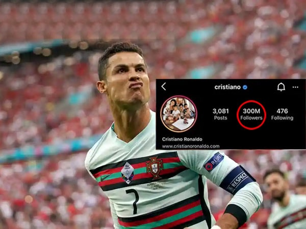 Ronaldo becomes first person to reach 300 million followers on Instagram