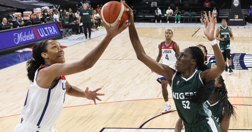 Nigerian Female Basketball Loses to USA In Final Pre-Olympic Exhibition