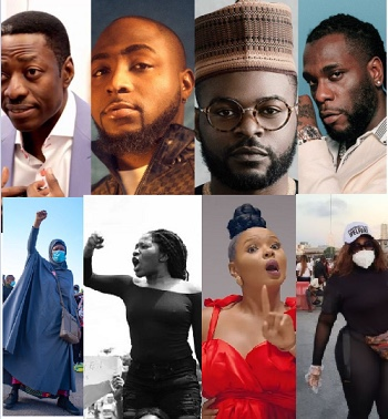 EndSARS: Court strikes out suit against Sam Adeyemi, Davido, Falz, BurnaBoy, Aisha Yesufu and others