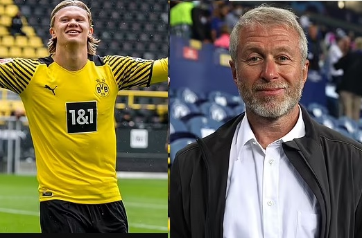 Chelsea billionaire owner, Roman Abramovich 'releases funds for the club to sign Erling Haaland for £150m