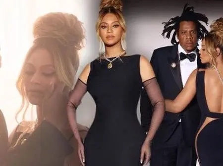 Beyonce channels Audrey Hepburn in a black dress and a $30M diamond