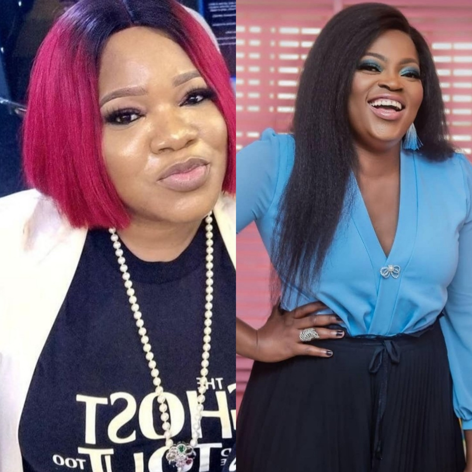 """""""Forget social media"""" Toyin Abraham reacts to alleged beef between her and Funke Akindele (video)"""