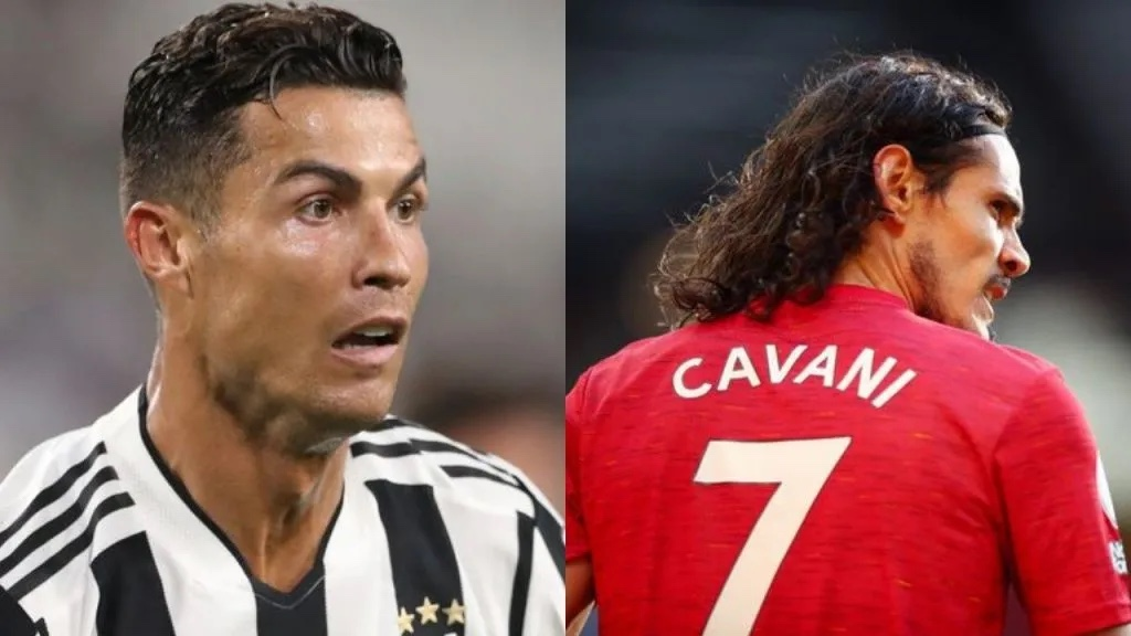 Man Utd confirm Ronaldo has taken no 7 shirt from Cavani
