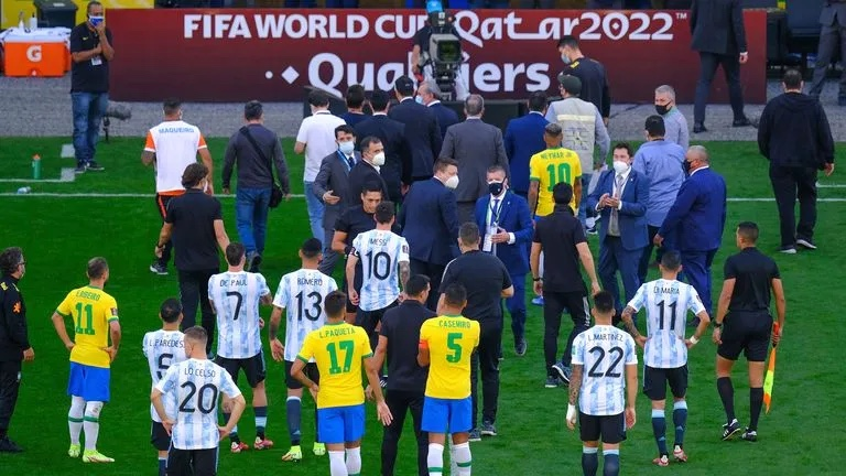 Brazil vs Argentina suspended as police storm pitch to arrest 4 Premier League players
