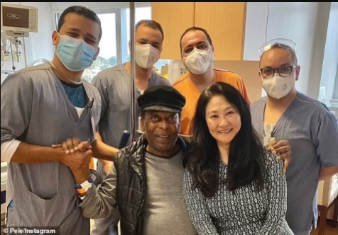 Brazil legend Pele, 80, finally leaves hospital after recovering from an operation to remove a tumour from his colon