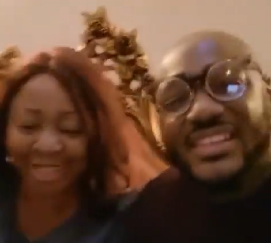 May God let peace and love reign in this family – Senator Ita Giwa writes after spending the night with Tuface and Annie Idibia (video)