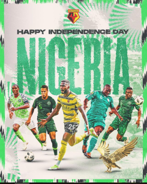 Premier League Club Watford Celebrate Nigeria on her 61st Independence Day