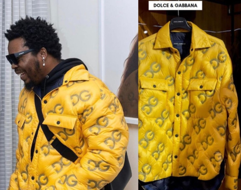 Olamide spotted in a N1,135,650 D&G jacket