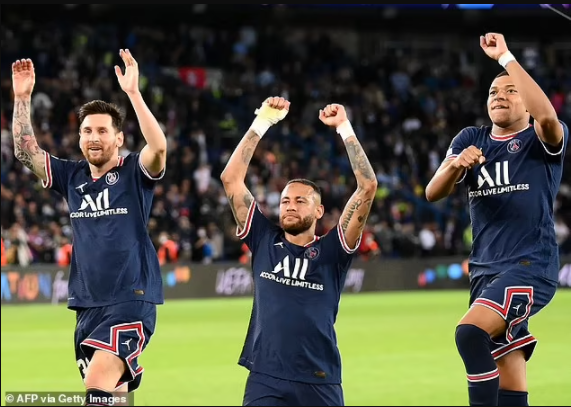 Lionel Messi says he would vote for his PSG team-mates Kylian Mbappe and Neymar for this year's Ballon d'Or